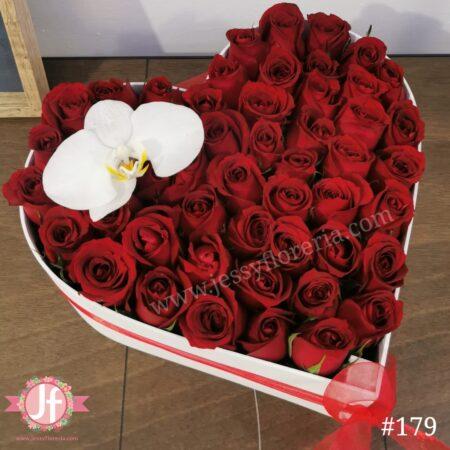 179 399 Corazón negro 25 rosas 20 Ferrero