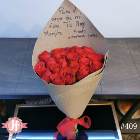 409-Bouquet 24 rosas craft