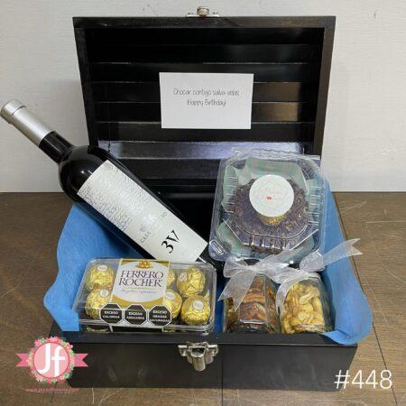 448-Cofre 3v, Ferrero, botana y Dona