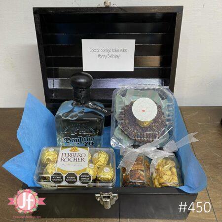 450-Cofre Don Julio 70, Ferrero, botana y Dona