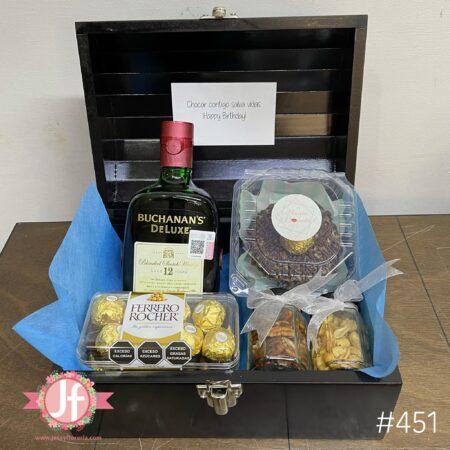 451-Cofre Buchana´s, Ferrero, botana y Dona