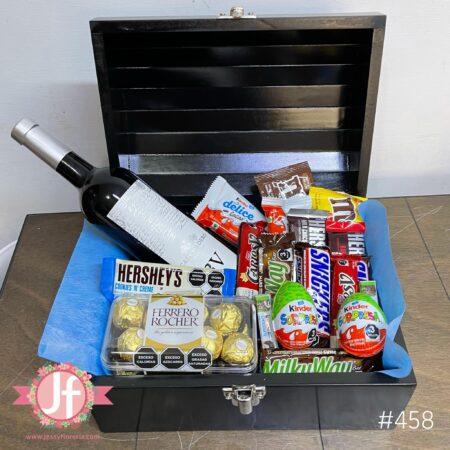 458-Cofre 3v, Ferrero y chocolates surtidos