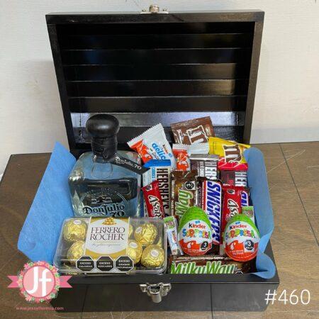 460-Cofre Don Julio 70, Ferrero y chocolates surtidos