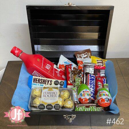 462-Cofre Red Label, Ferrero y chocolates surtidos
