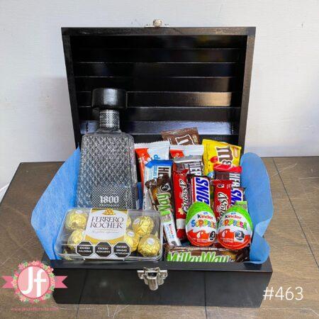 463-Cofre 1800 cristalino, Ferrero y chocolates surtidos