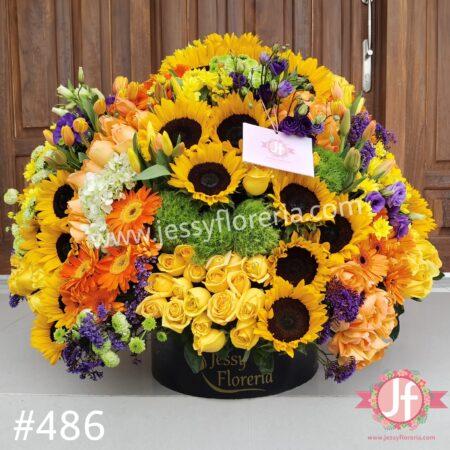486-Caja circular grande primavera