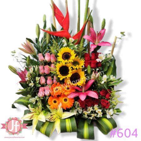 604 Jardín colorido
