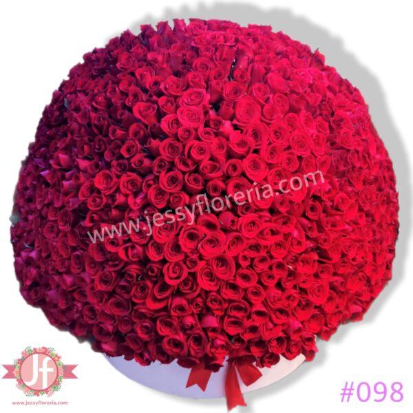 098 Caja 600 rosas
